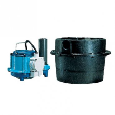 Compact Sump Pump and Basin Waste Water Removal System
