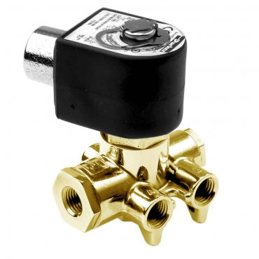 4-Way 2 Position Piped Single Solenoid Valve