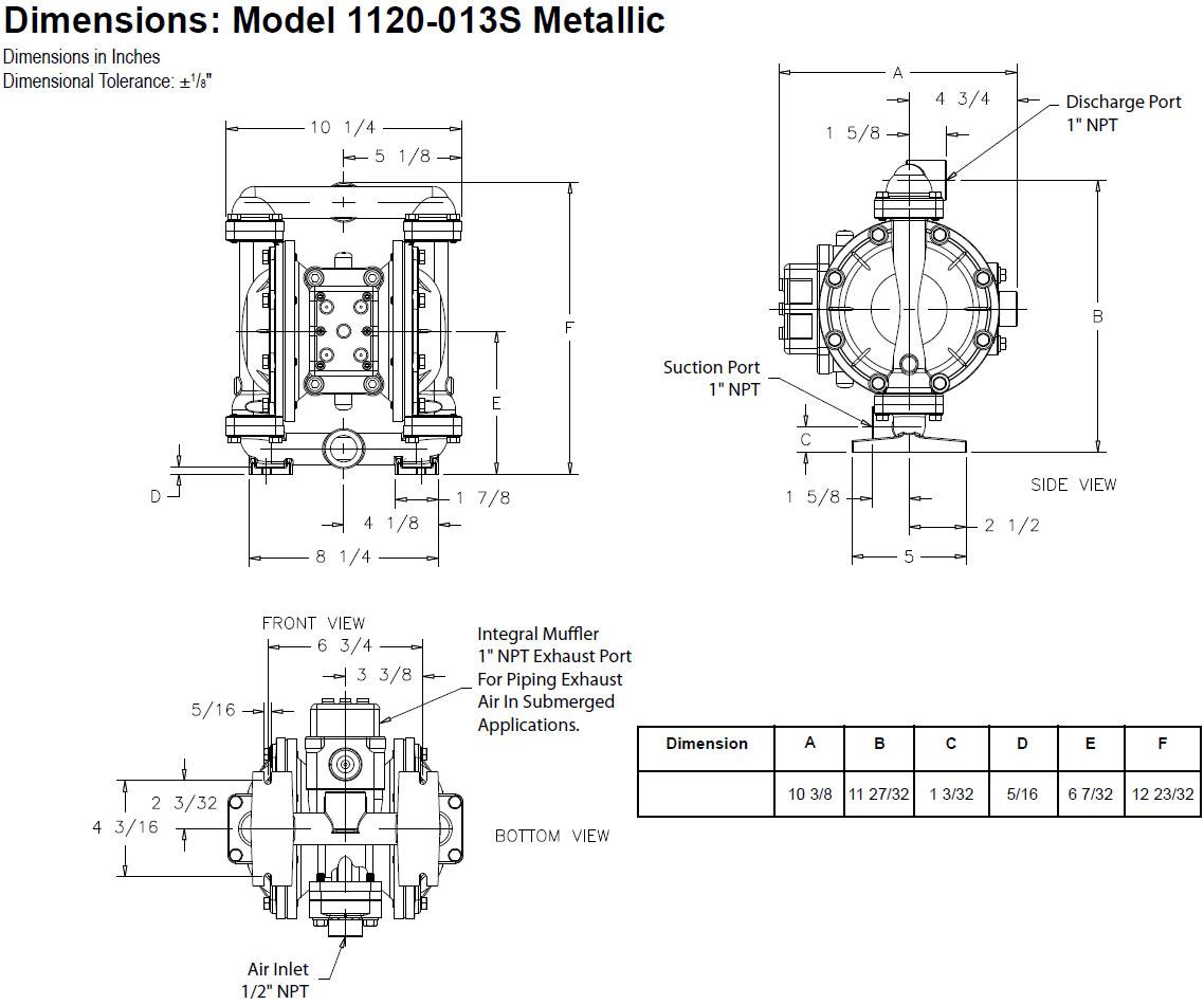 Balcrank 1120 013s Conventional Aluminum Pump