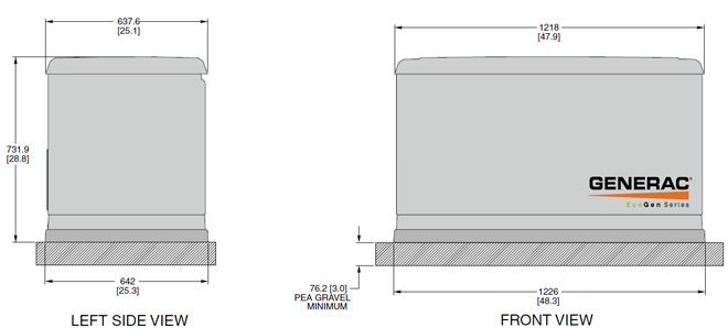 generac 5818 6 kw standby ecogen generator. Black Bedroom Furniture Sets. Home Design Ideas