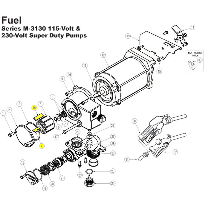 110 220 Volt Ac Fuel Pump Replacement Parts Westech