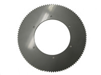 104T40 DISC SPROCKET, 16.85 in. DIA (CHROME SILVER) #40 Chain Disc Sprocket