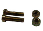 HARDWARE FOR HOSE STOP (HS-3 OR HS-45) Includes (2) 1/4 in. Nuts, (2) 1/4 in. x 1 in. Round Head Screws