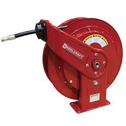 Heavy Duty Spring Rewind Grease Hose Reel - Click Image to Close